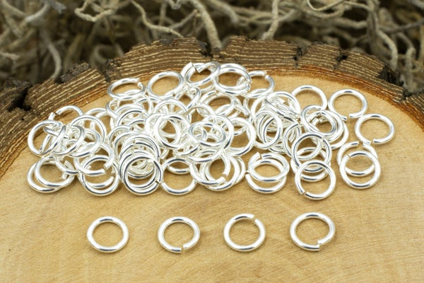TierraCast Round Jump Ring, 20 Gauge, Silver Plate, 4mm Inside