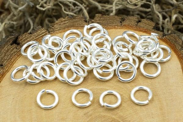 TierraCast Round Jump Ring, 16 Gauge, Silver Plate, 5mm Inside