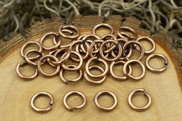 TierraCast Round Jump Ring, 16 Gauge, Copper, 5mm Inside