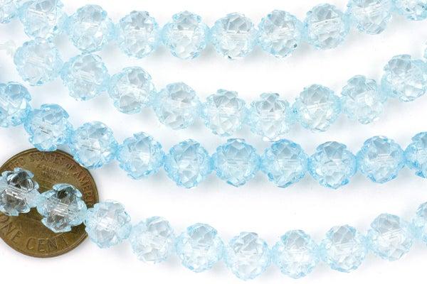 Czech Glass Crown, Blue Ice, 8mm
