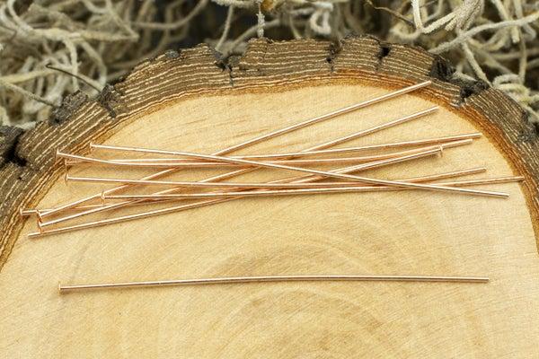 TierraCast Head Pin, 22 gauge, Copper, 2in