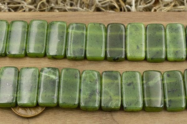 Dakota Stones Double-Drilled Jade Rectangle, 10x20mm