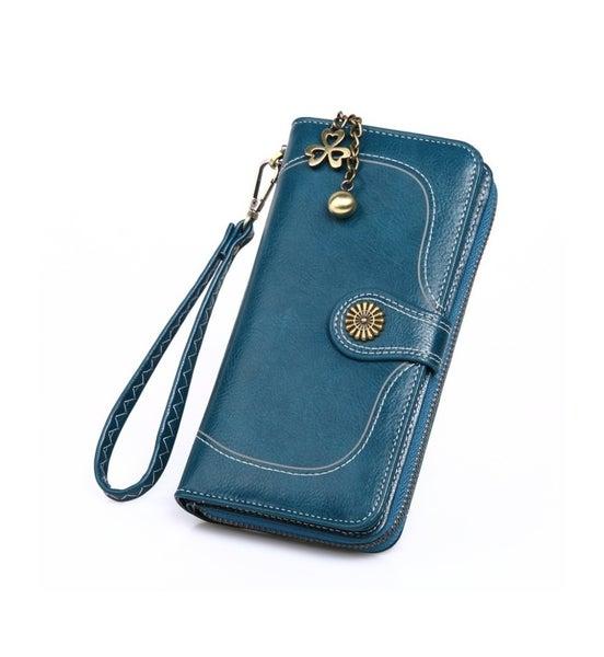 Retro Teal Blue Wallet