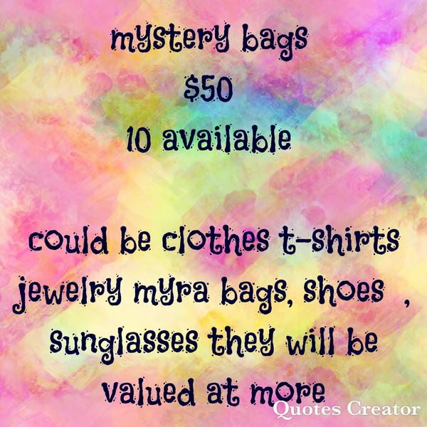 MYSTERY BAG  $50