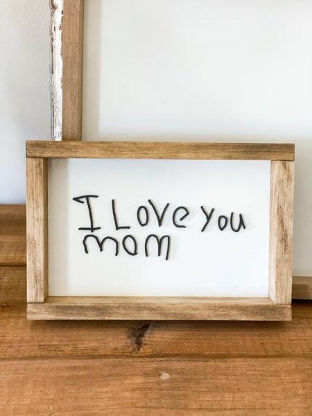 Small Handwritten Wooden Sign