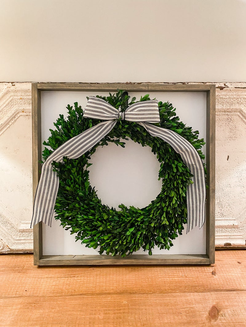 Large Wooden Wreath Sign