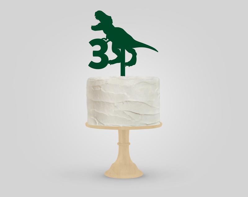 Dinosaur Birthday Acrylic Cake Topper