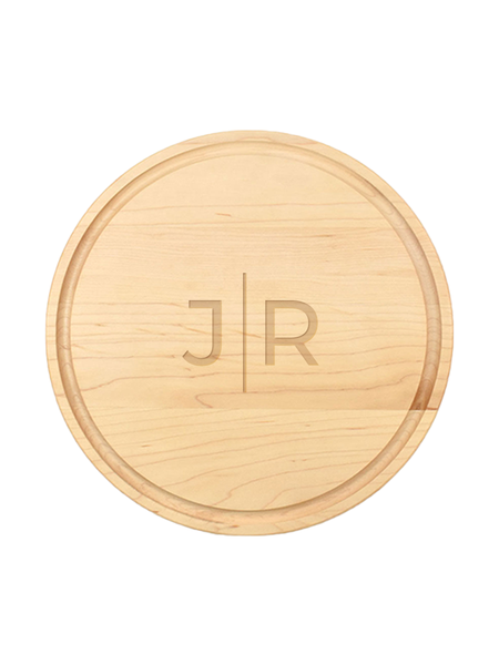 Two Letter Line Monogram Personalized Serving Board