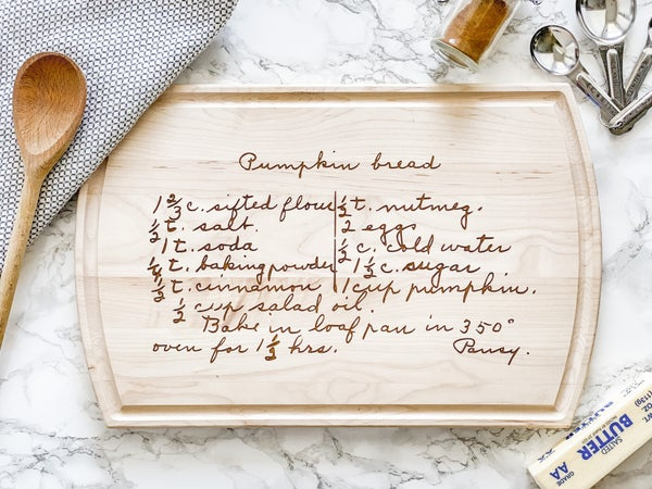 Recipe Serving Board
