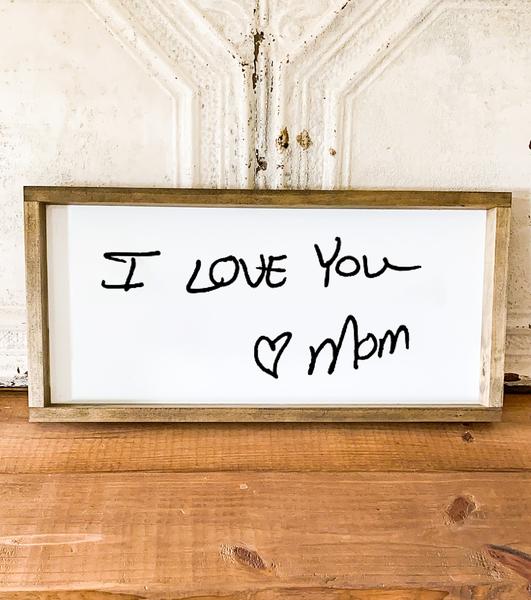 Medium Handwritten Wooden Sign