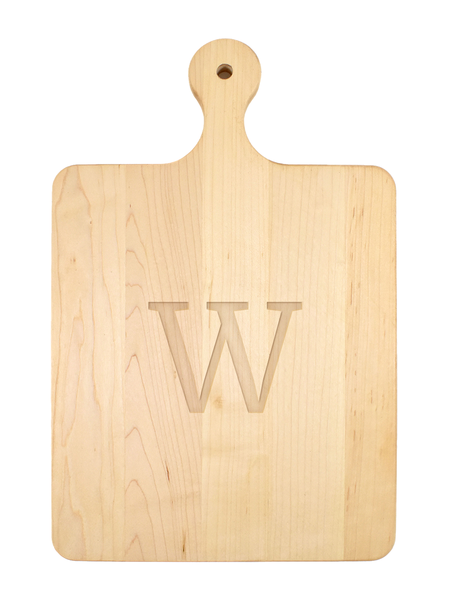 Single Letter Serif Font Serving Board