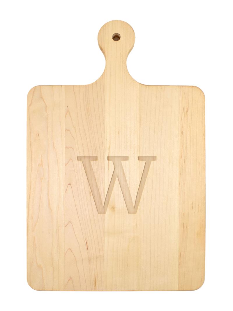 Single Letter Serif Font Serving Board