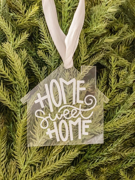 Home Sweet Home Acrylic House Ornament