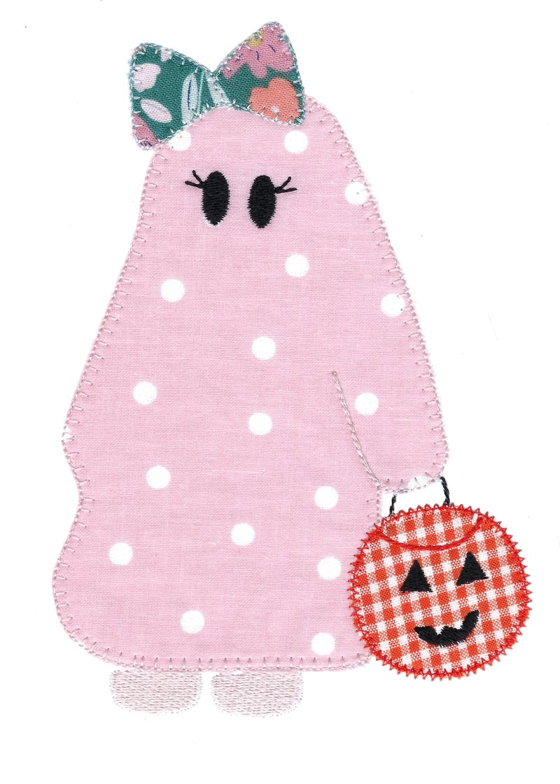 Ghost Girl Trick Or Treater Halloween Long Sleeve Onesie