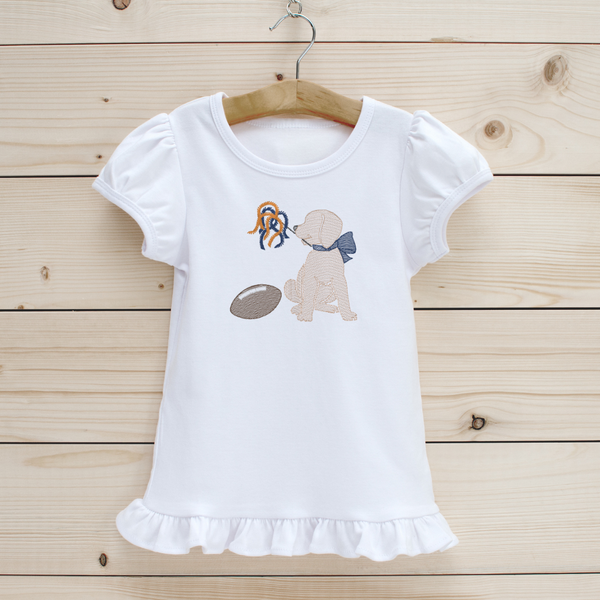 Football Puppy Girls' Short Sleeve Shirt