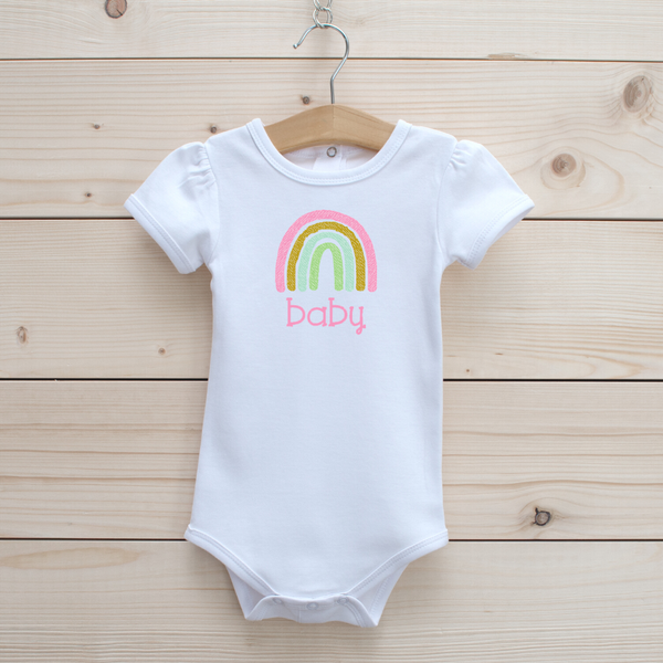 Rainbow Baby Onesie (Long and Short Sleeve/Girl and Unisex Style Onesies)