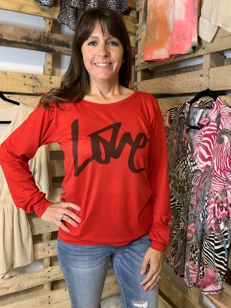 RED LOVE TOP