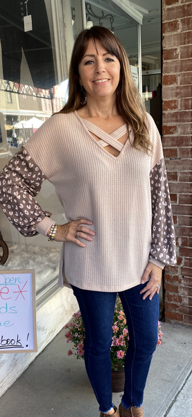 TAUPE LONG SLEEVED