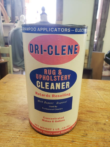Vintage rug cleaner jar