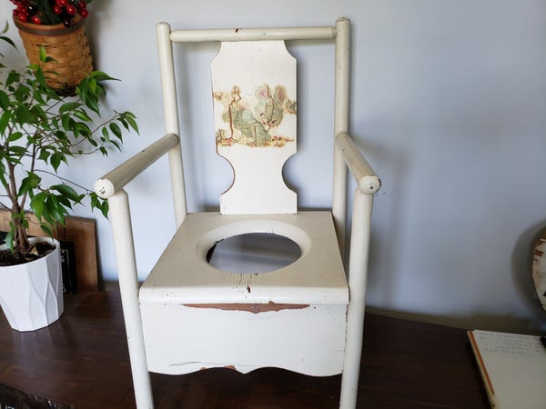 Vintage Wood Childs Potty Chair/Plant stand