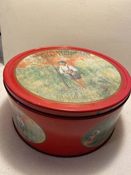 Round Vintage Famous Danish Butter cookie Tin
