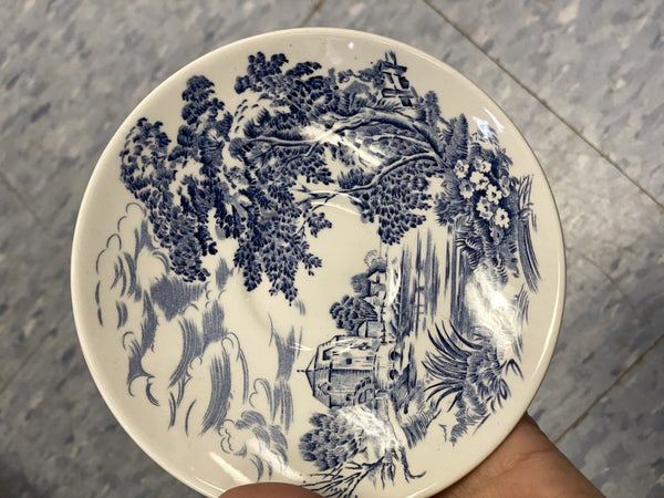 Wedgewood saucer - countryside pattern