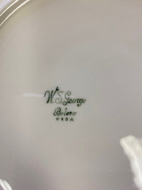 WS George white and floral dinner plate set of four