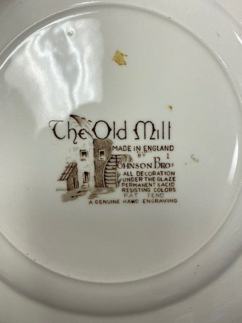 Johnson brothers transferware sandwich plate-mill pattern