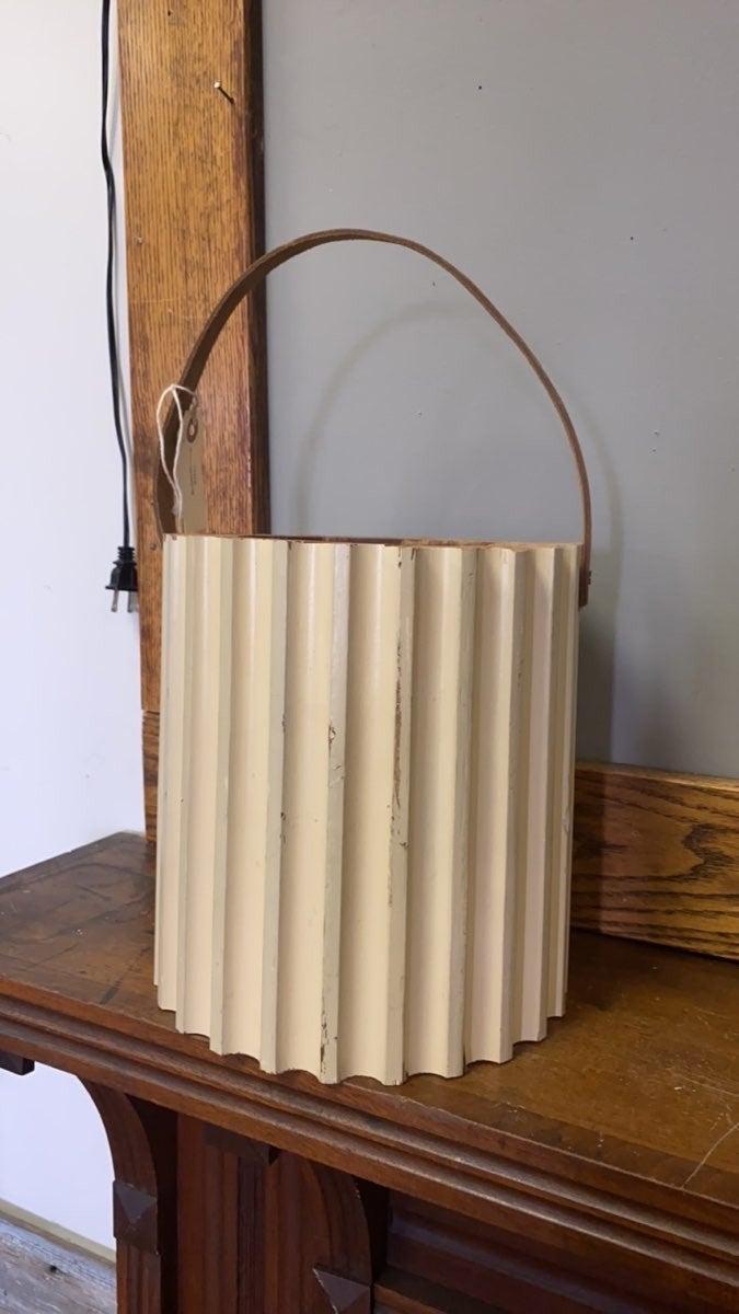 Wood Salvage Bucket-no bottom-no shipping