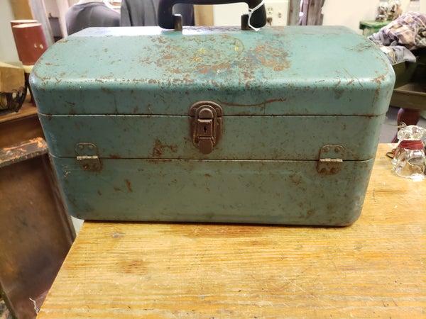 Green metal tool box