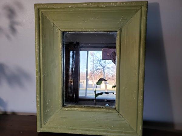 Green Wood Mirror