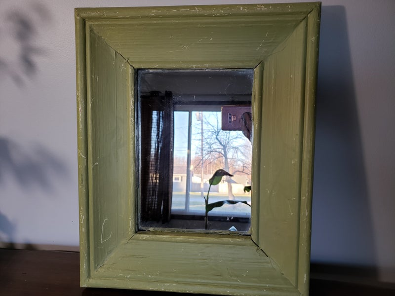 Green Wood Mirror