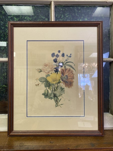 Framed floral print-NO SHIPPING