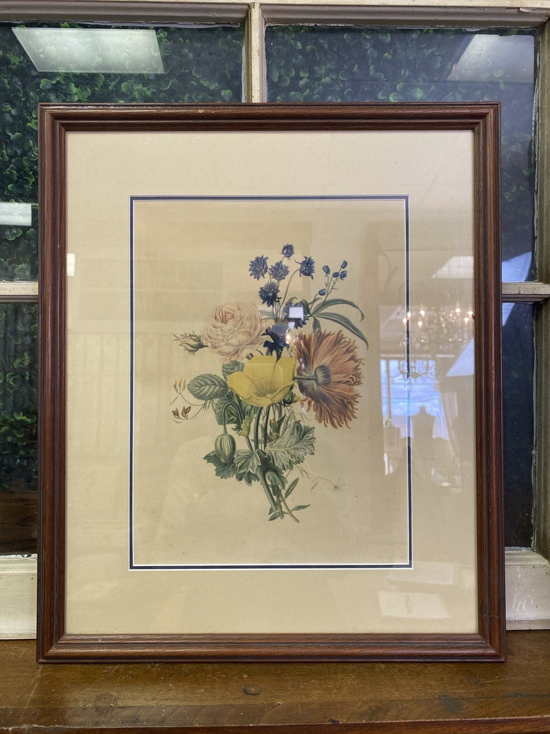 Framed floral print-NO SHIPPING