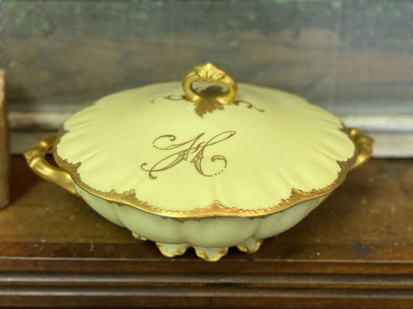 Haviland China round covered dish