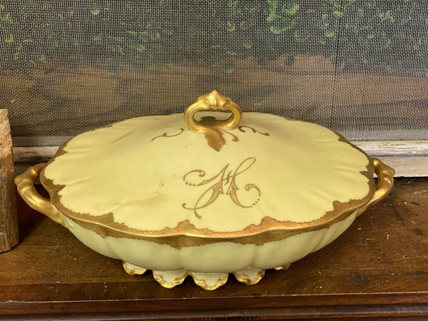 Haviland China oval covered dish