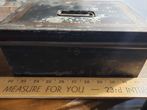 Vintage metal title box