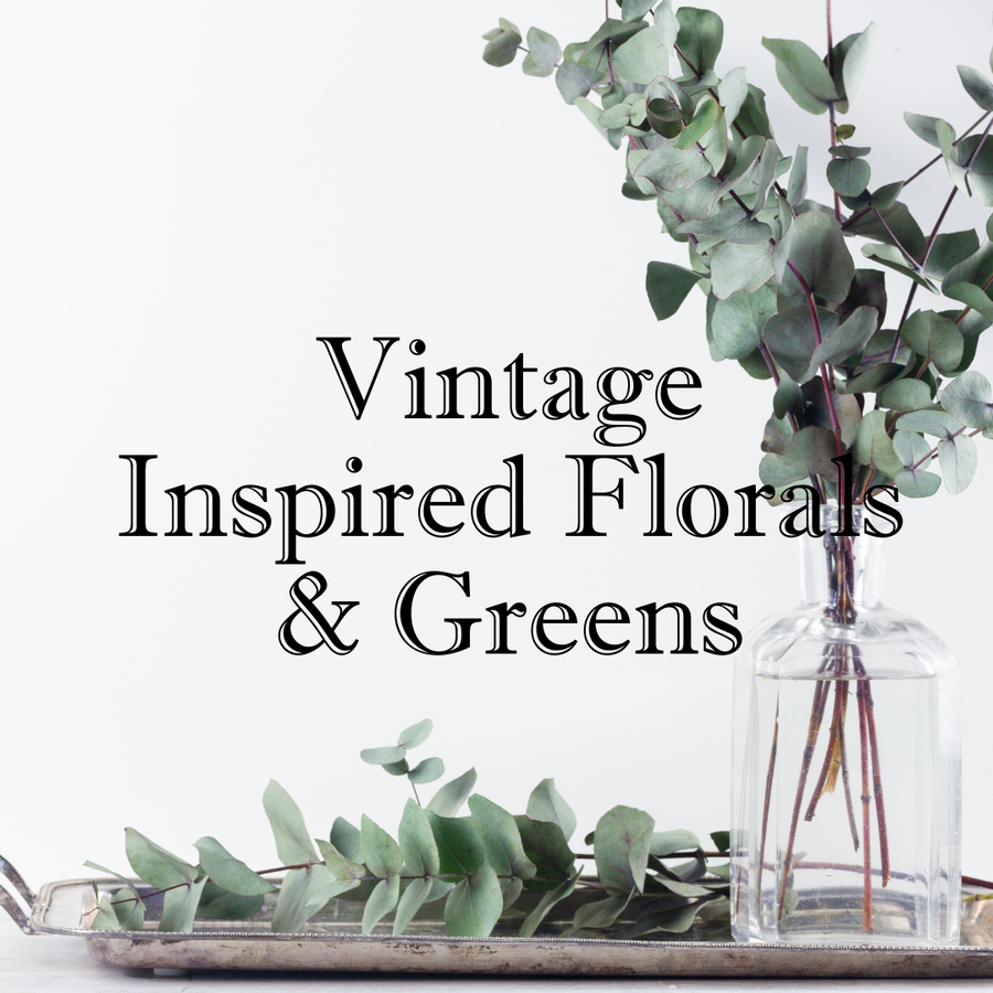 Vintage Inspired Florals and Greens