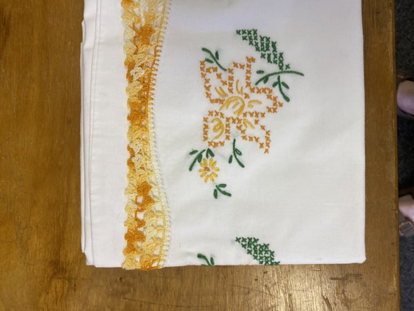Handmade twin pillowcases set of two