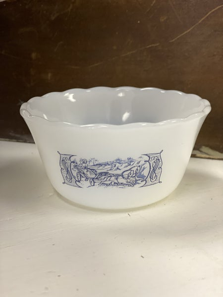 Vintage Currier and Ives custard cup - 3.75""