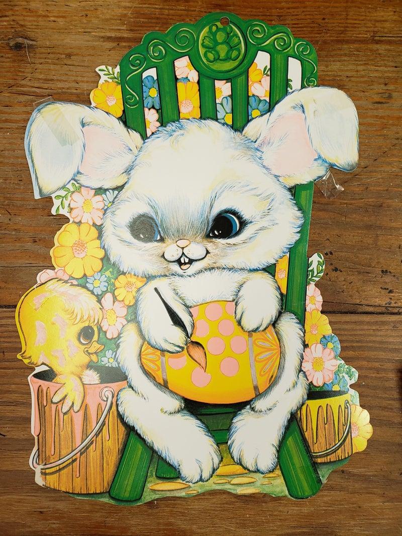 1977 the Beistle Co Die Cut Bunny