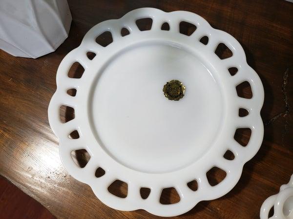 Milk White-Anchor Glass Dish
