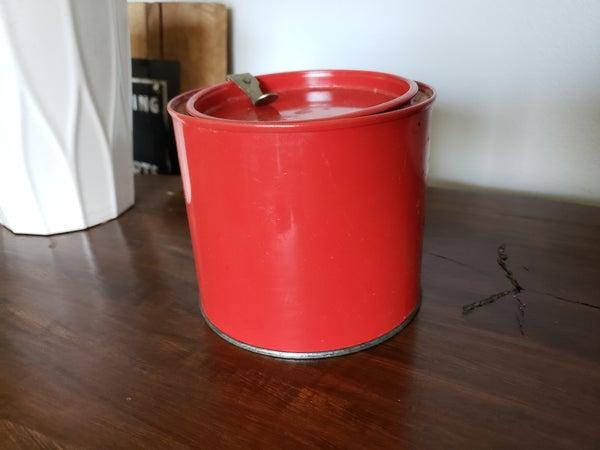 Vintage Red Tobacco Tin