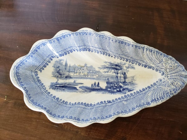 Blue Transferware Dish