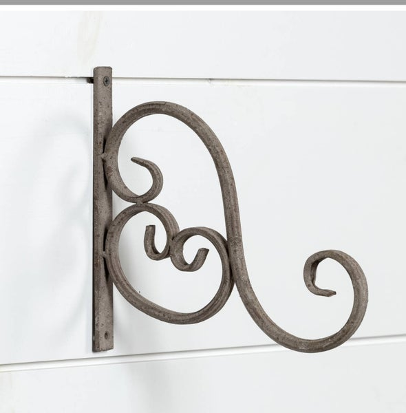 Vintage inspired wrought iron hook