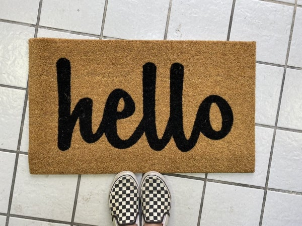 """Hello"" Rug"