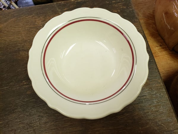 Restaurant Restaurant ware red stripe bowl