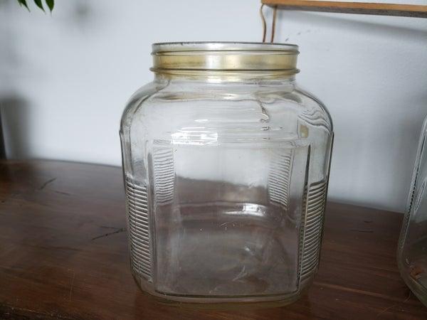 Vintage Glass Cannister-NO LID