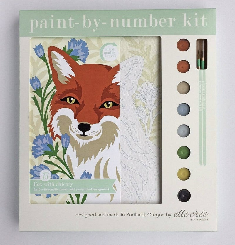 Fox W/Chicory Paint By Number