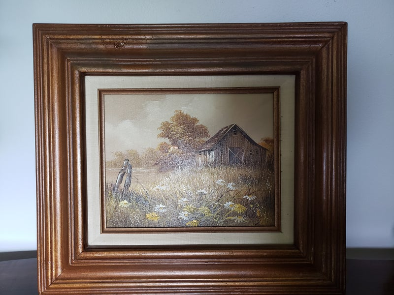 Farm Oil Painting